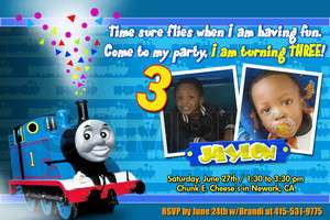 THOMAS THE TANK TRAIN 1ST BIRTHDAY PARTY INVITATION c5   CARDS