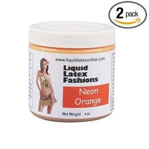 Liquid Latex Fashions Ammonia Free Body Paint, Neon Orange