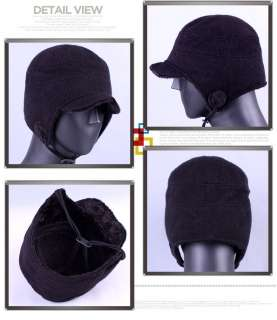 Cute Faux Fur Ear Flap Snowboard Winter Ski Cap Men Women Black Gray