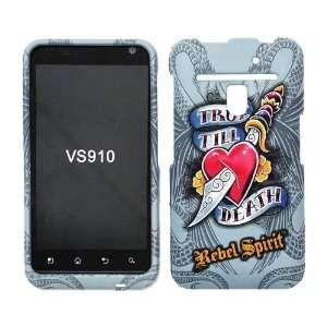 LG VS910 VS 910 Revolution True Till Death Rebel Spirit Red Love Heart