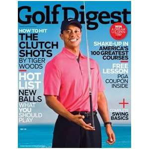 golf digest magazine may 2009 tiger woods golf digest Books
