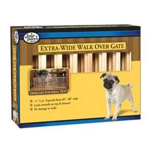 Extra Wide Walk Over Wood Slat Gate, 18 x 48 Pet Supplies