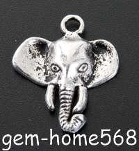 40 Tibetan Silver Elephant Animal Charms Pendants B433