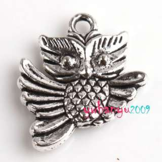 Multi Shape OWL Animal Tibetan Silver Tone Charms Pendants Free ship
