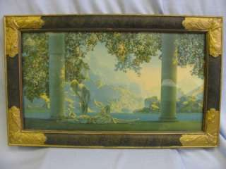 Maxfield Parrish House of Art New York framed print OLD