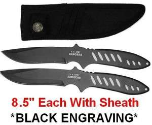 STEALTH BLACK ARMY RANGERS THROWING KNIVES throwers knife blades C83b