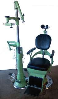 Vtg Bausch & Lomb Hydraulic Dentist Chair TATTOO Barber NICE