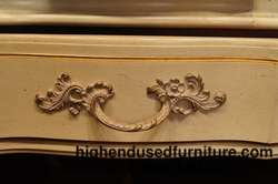 THOMASVILLE Chalice White and Gold French Provincial 78 Dresser