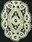 VINTAGE BELGIAN HAND MADE LACE TABLE RUNNER DOILY