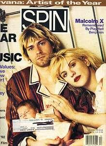 COBAIN NIRVANA COURTNEY LOVE HOLE Spin Magazine 92 MALCOLM X