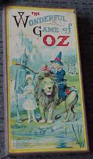 1921 Wizard of Oz board game. Beautiful piece. The game board is fresh