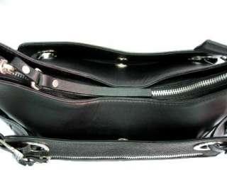 GENUINE STINGRAY SKIN LEATHER BLACK SHOULDER BAG PURSE