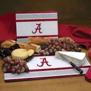 Alabama Crimson Tide NCAA Glass Cutting Board Set Sports