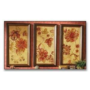 TEXTURED FLORAL WALL ART   FLORAL 1