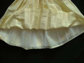 Fancy Easter Pageant Yellow Satin Dress Party Wedding Portrait Toddler