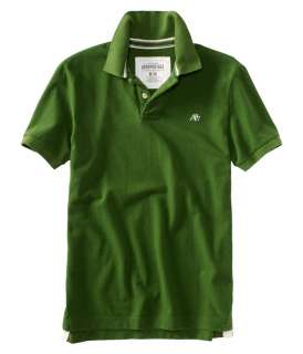 Aeropostale mens solid uniform logo polo shirt sty 2000