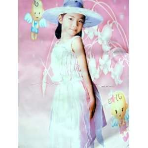Fancy Girl Princess Costume with Foldable Magic Hat