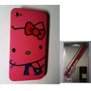 Hot Pink Kitty Snap Slim Hard Protector Case Back Cover