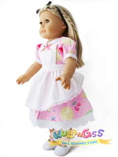 Handmade Fruit Maid Dress fits 18 American Girl doll
