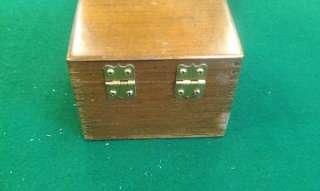 1959 Merchants Box Co. 3x5 Card Wooden File Box Maple