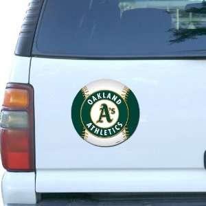 MLB Oakland Athletics 7 3/4 Baseball Team Logo Car Magnet