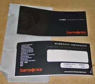 SAMSONITE BLACK LABEL LEATHER LUGGAGE FLIGHT BAG NWT