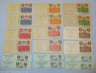 18 unused Ohio tax stamps vendors receipts various