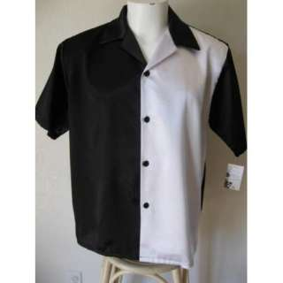 NEW Rockabilly 50s Swing Hipster Rat Pack Black White Rebel Bowling