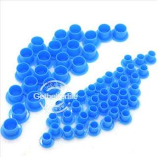 100 Blue Tattoo Self standing Ink Pigment Cup Supply