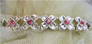 Pink Genuine Swarovski Crystal Stretch Watch, Cn B Sizd