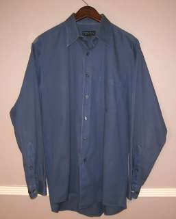 PERRY ELLIS Portfolio Blue Dress Shirt Size 16/34 35