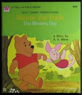 WINNIE THE POOH THE BLUSTERY DAY TELL A TALE BOOK 49¢