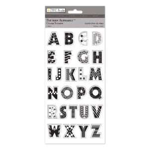The Paper Company,St93424, Pattern Alphabet Clear Stamps Arts