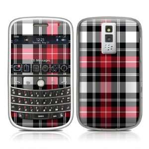 Red Plaid Design Protective Skin Decal Sticker for BlackBerry Bold