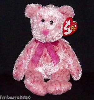 TY Beanie Baby SMITTEN Pink Nose Valentine Bear 8 MWMT