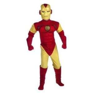 com Iron Man   Costumes   Iron Man Muscle Top with Mask Teen Costume