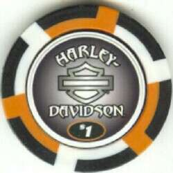colors HARLEY DAVIDSON EAGLES poker chip sample set #186