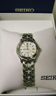 Seiko Womens SXE586 Le Grand Sport Two Tone Watch New
