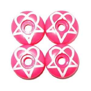 HEARTAGRAM 52mm PINK Skateboard WHEELS Sale!: Sports & Outdoors