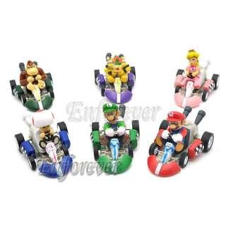 Lot 6 Mario Bros 2MARIO Kart Pull back Car Figure^MS81