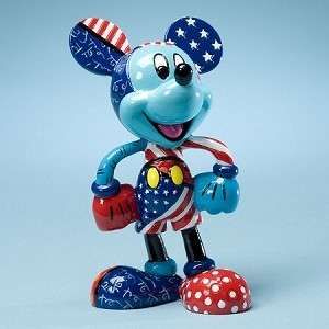 DISNEY BY BRITTO   Mickey Mouse Patriotic Figurine