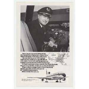 Delta Airlines Captain Frank Moynahan Print Ad (579) Home & Kitchen
