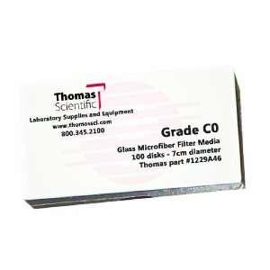 Thomas C9000 Borosilicate Glass Microfiber Filter, 1.2 Micron, Fast