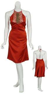 Eye Catching MIGUELINA Copper Silk Wrap Dress SMALL NEW