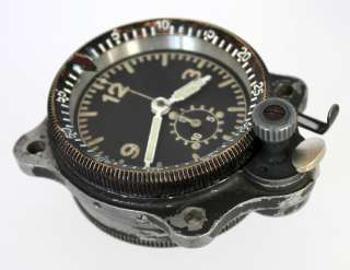 WWII GERMAN AIR FORCE Bo UK1 AIRCRAFT CLOCK JUNGHANS MILITARY
