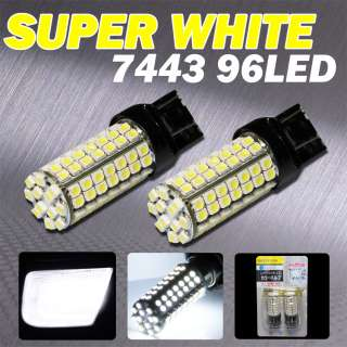 7443 6000K WHITE 96 LED SMD TURN TAIL/STOP LIGHT BULBS