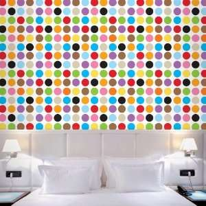 French Bull Multi Dot Removable Wallpaper Home