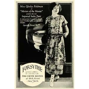 1923 Ad Forsythe Womens Fashion Clothing Stage Actress