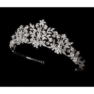Swarovski Crystal and White Pearl Wedding Bridal Tiara Beauty