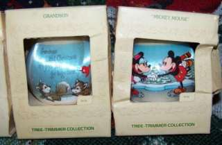LOT OF 4 HALLMARK VINTAGE TREE TRIMMER ORNAMENTS IN BOXES MICKEY MOUSE